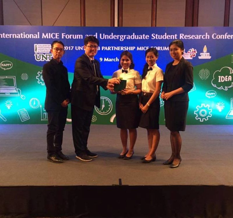 MUIC Team Wins Best Research Paper Award in MICE Conference