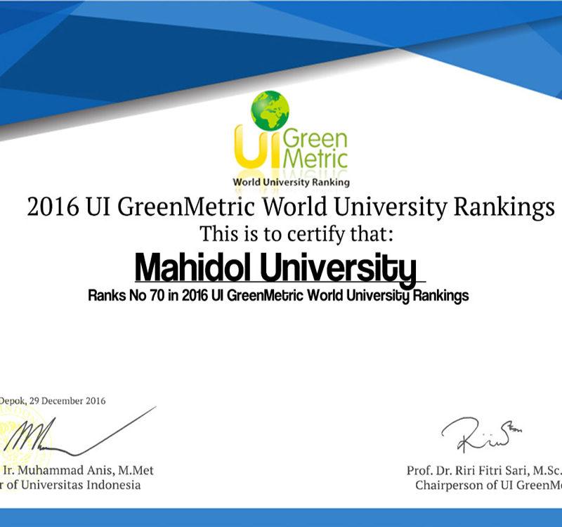 Greenmetric Data