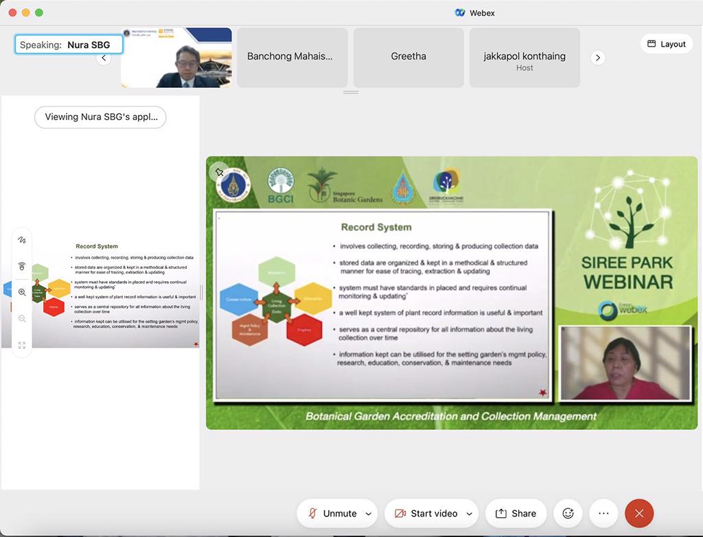 sireepark,webinar,BGCI,Botanic